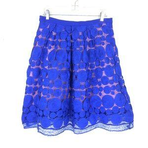 ANTHROPOLOGIE EVA  FRANCO | Albastru Skirt  SZ 8